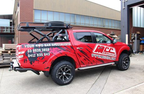 MQ TRITON SWING ROLL BAR WITH 1.5M ROOF RACK (1)