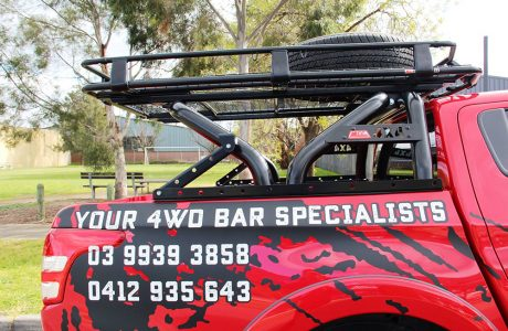 MQ TRITON SWING ROLL BAR WITH 1.5M ROOF RACK (2)