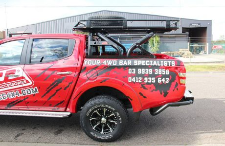 MQ TRITON SWING ROLL BAR WITH 1.5M ROOF RACK (3)